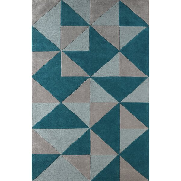 Lueras Hand-Tufted Lapis Area Rug by Brayden Studio