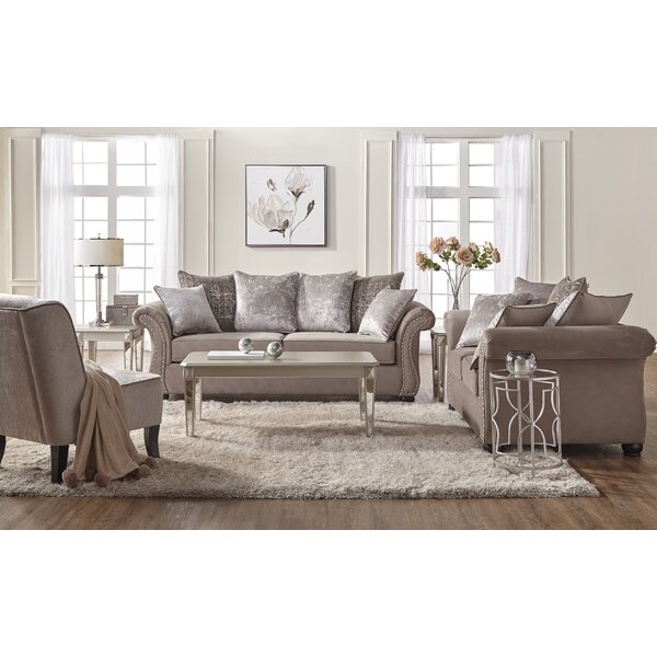 Bedingfield Contemporary 2 Piece Living Room Set by House of Hampton