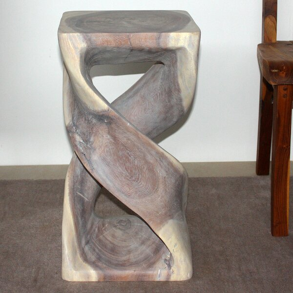 Delvalle Double Twist End Table by World Menagerie