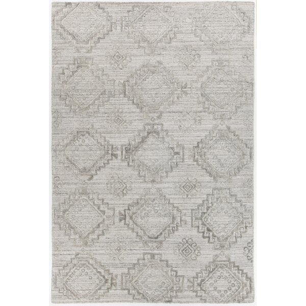 Dominguez Hand-Woven Light Gray Area Rug by Union Rustic