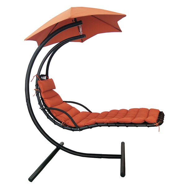 Cano Polyester Hanging Chaise Lounger with Stand by Red Barrel Studio Red Barrel Studio