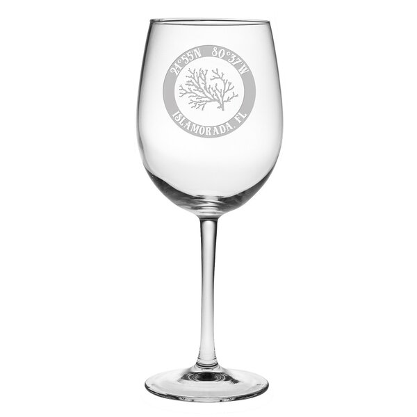 Maywood Coral 19 oz. All Purpose Stemmed Wine Glass by Rosecliff Heights