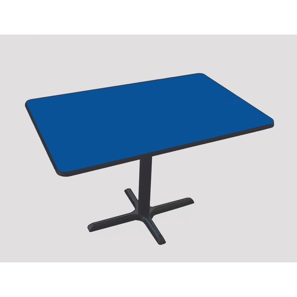 Rectangular Bar and Café Table with Cross Base and Column by Correll, Inc.