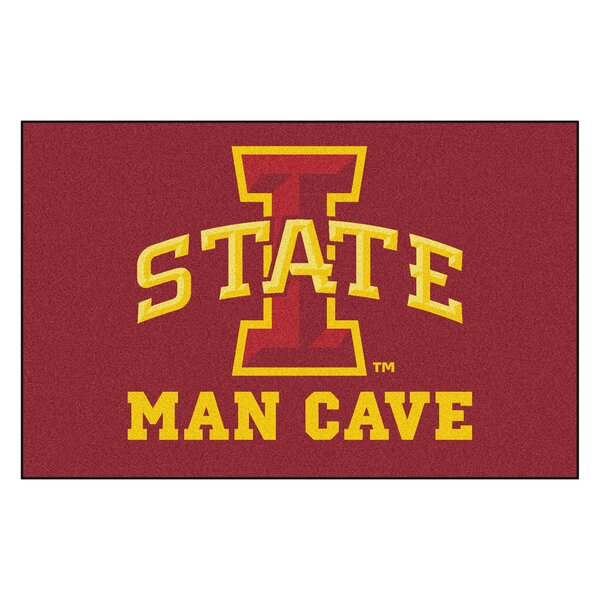 Collegiate NCAA Iowa State University Man Cave Doormat by FANMATS
