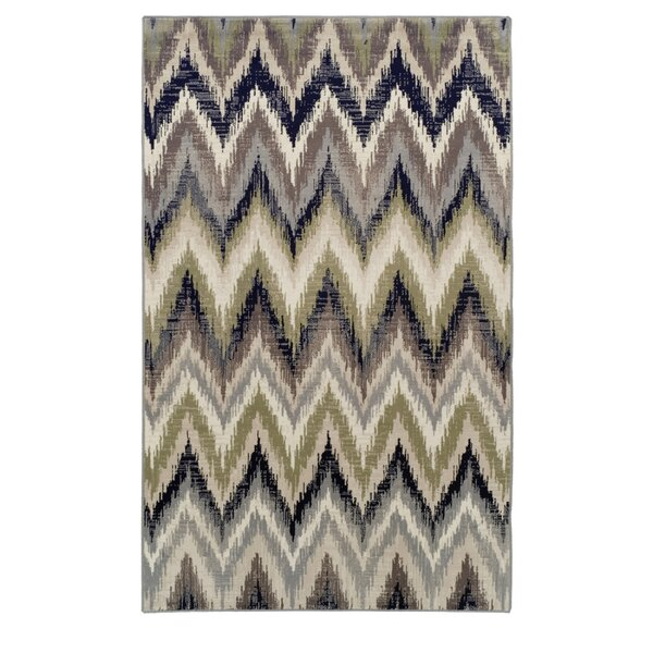 Velazco Zigzag Brown Area Rug by George Oliver