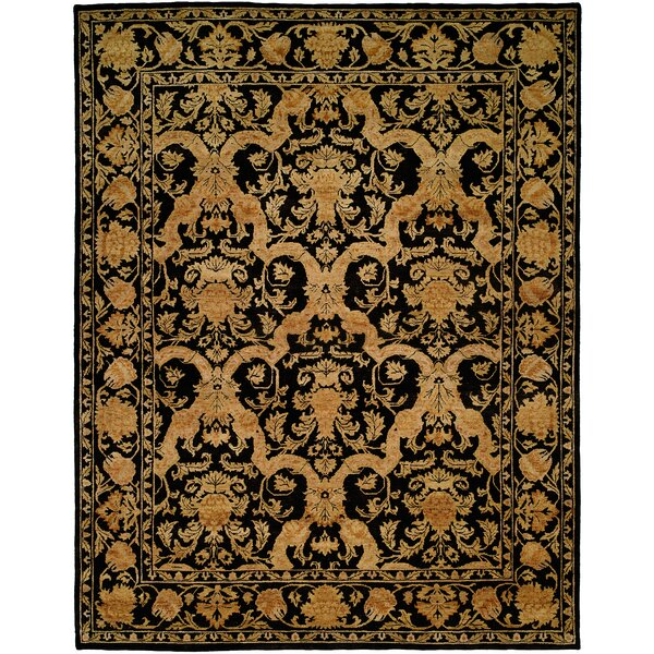 Anchorage Hand-Knotted Black/Gold Area Rug by Wildon Home ®