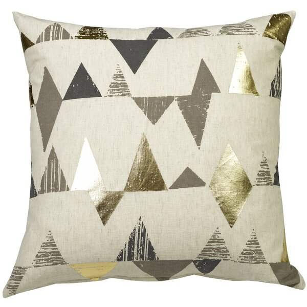 Urban Loft Foil Triangles Throw Pillow by Westex