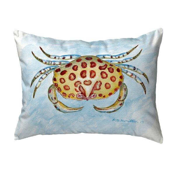 Devon Crab No Cord Indoor/Outdoor Lumbar Pillow