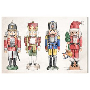 'Nutcrackers' Framed Graphic Art on Wrapped Canvas by The Holiday Aisle