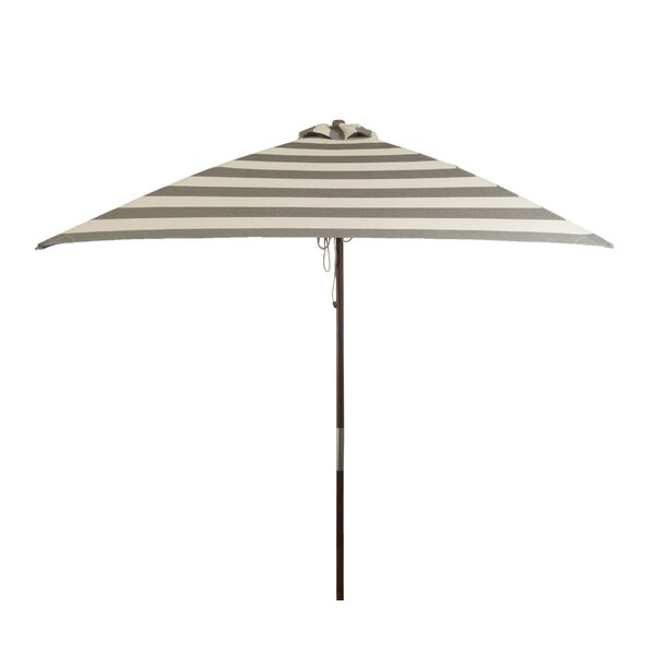Classic Wood 6.5' Square Market Umbrella by Heininger Holdings LLC