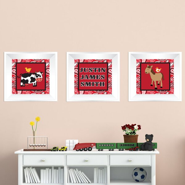 3 Piece Farm Picture Frame Wall Decal by Mona Melisa Designs