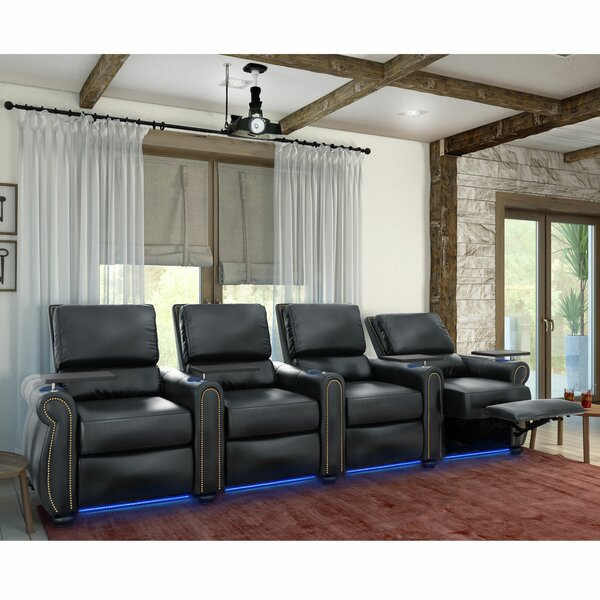 Stallion HR Series Home Theater Recliner (Row Of 4) By Red Barrel Studio
