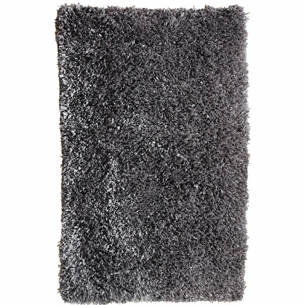 Castilleja Hand-Woven Gray Area Rug by Ebern Designs