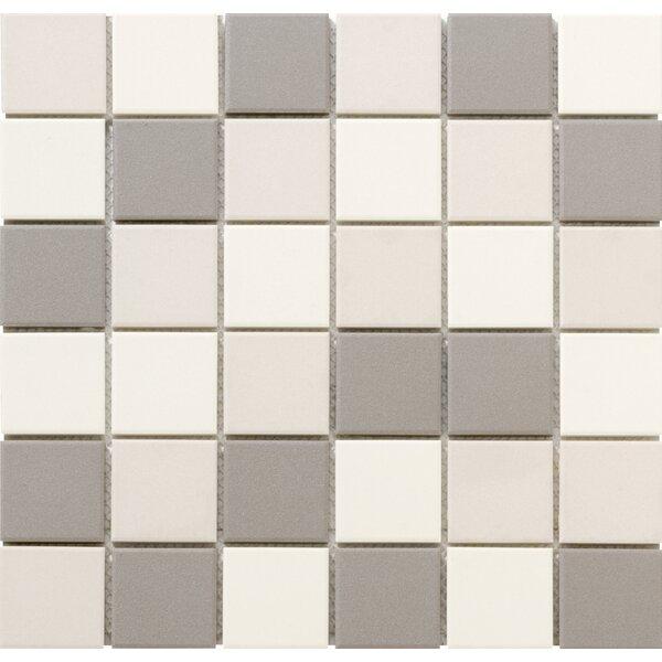 Zone Blend 2 x 2 Porcelain Mosaic Tile in Matte Light by Emser Tile