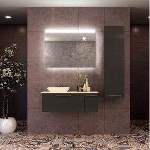Price comparison Nico 39 Wall-Mounted Single Bathroom Vanity Set with Mirror ByOrren Ellis