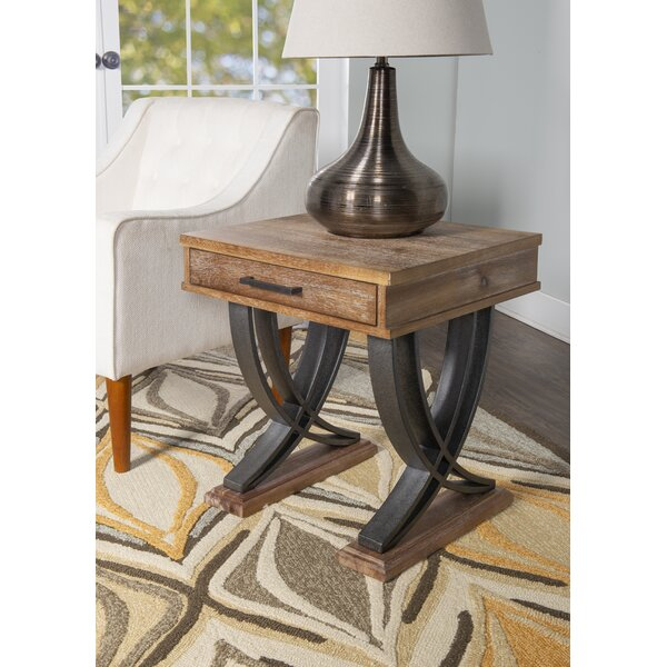 Marina End Table with Storage by Union Rustic