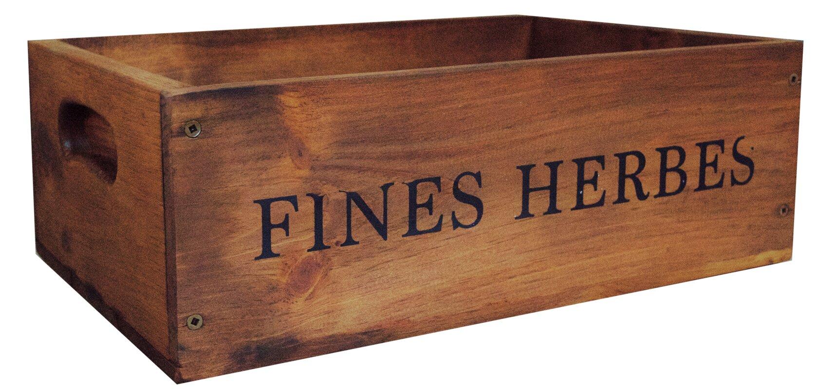 Fines Herbs Pine Wood Crate