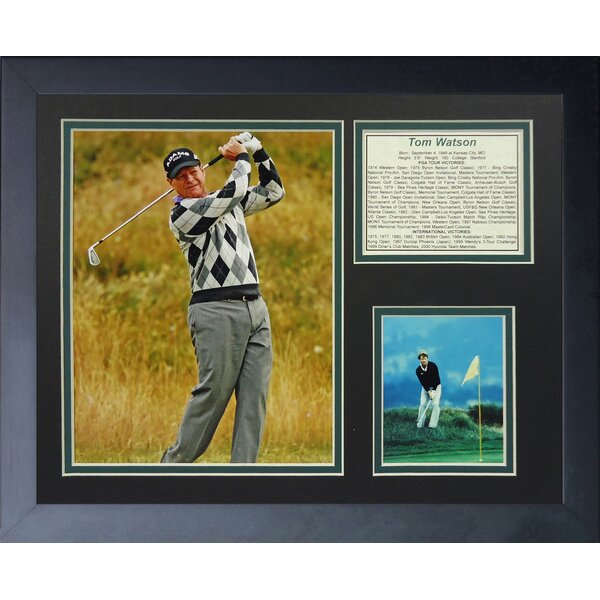 Tom Watson Framed Memorabilia by Legends Never Die