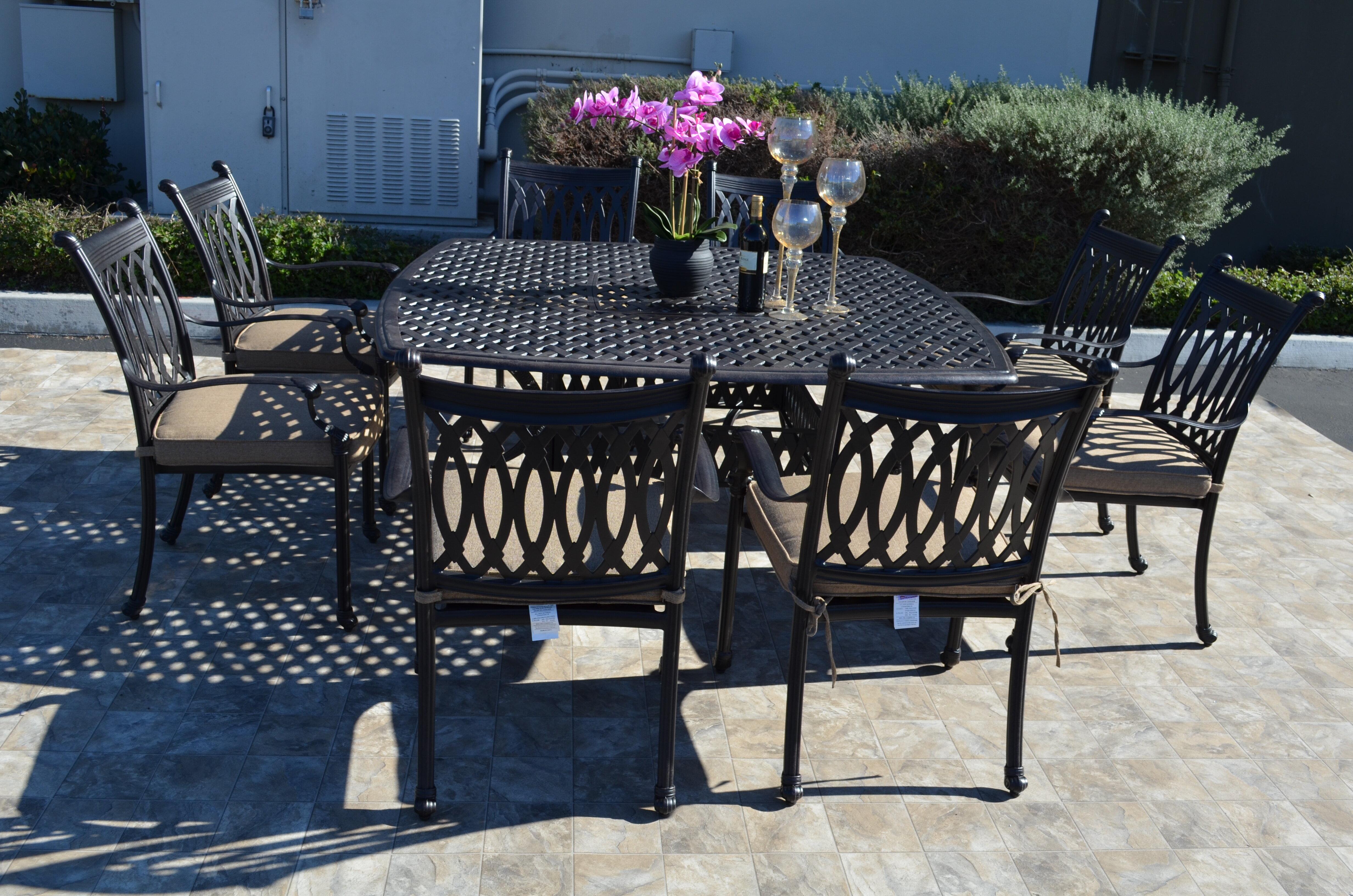 Tremendous Baragrey 9 Piece Sunbrella Dining Set With Cushions Cjindustries Chair Design For Home Cjindustriesco