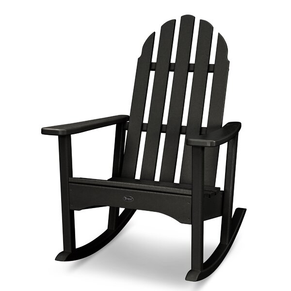 Cape Cod Recycled Plastic Rocking Adirondack Chair by Trex Outdoor Trex Outdoor