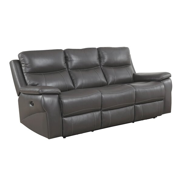 Heitman Contemporary Sofa Leather Manual Wall Hugger Recliner