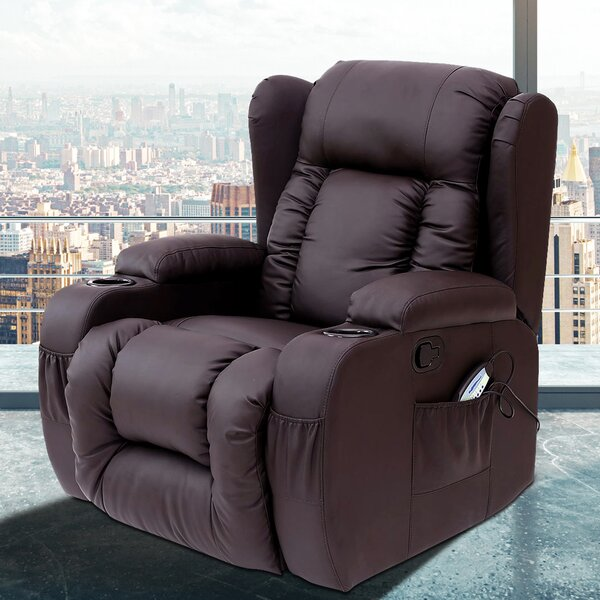 Idaho Reclining Heated Massage Chair By Latitude Run