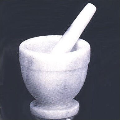 White Marble Mortar and Pestle by Creative Home