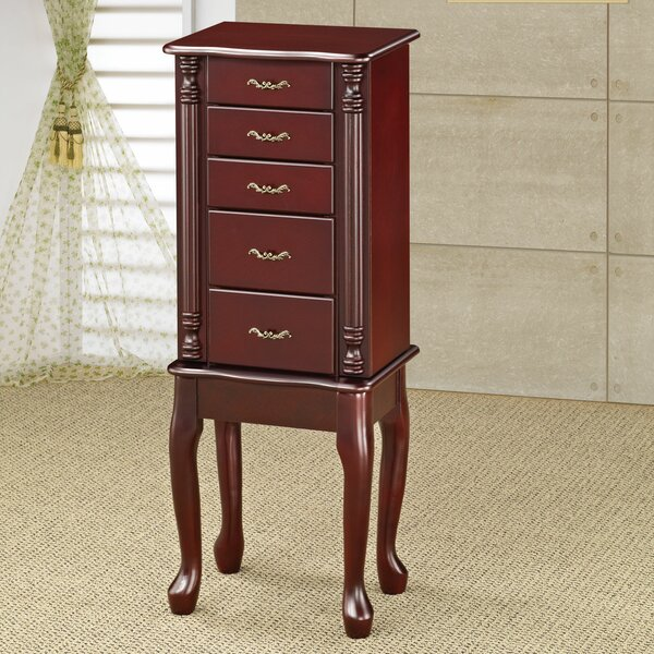 Croftshire Merlot Jewelry Armoire by Charlton Home