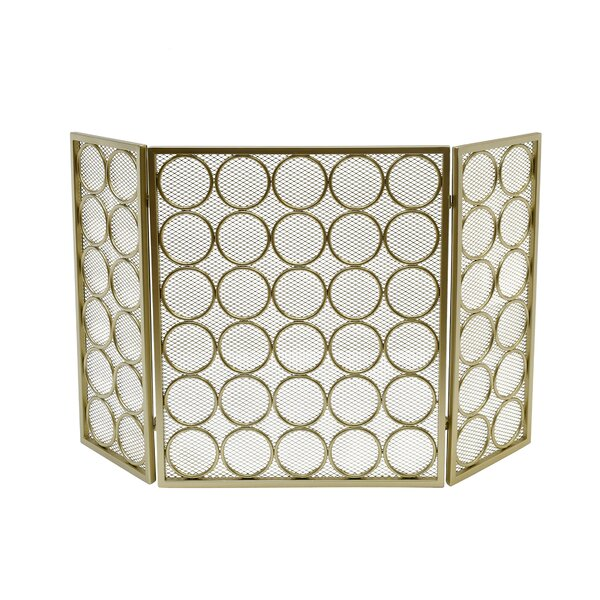 Melanie 3 Panel Iron Fireplace Screen By Home Loft Concepts