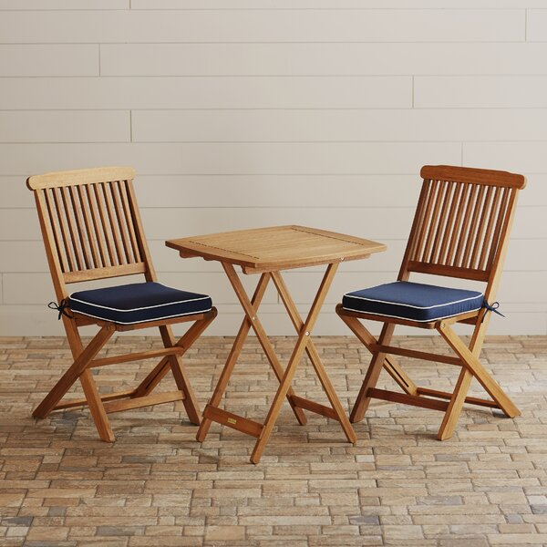 Moana 3 Piece Bistro Set with Cushions by Beachcrest Home
