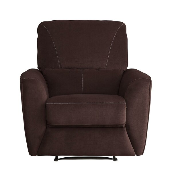 Zane Upholstered Plush Cushioned Manual Recliner by Red Barrel Studio