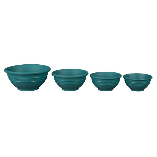 4-Piece Silicone Mixing Bowl Set by Le Creuset