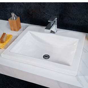 Quickview American Standard Studio Vitreous China Rectangular Drop In Bathroom Sink