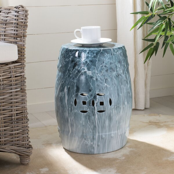 Bellavia Marble Garden Stool by Bay Isle Home