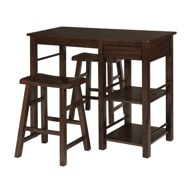 Jameel Counter Height Breakfast 3 Piece Pub Table Set by Red Barrel Studio Red Barrel Studio