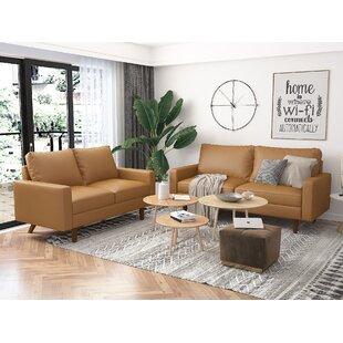 Haygazn 2 Piece Faux Leather Living Room Set by Corrigan Studio®