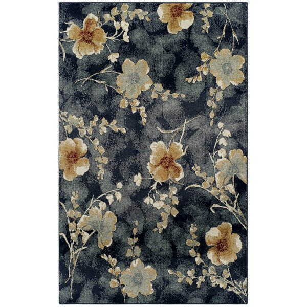 Dickerson Navy Blue Area Rug by Charlton Home