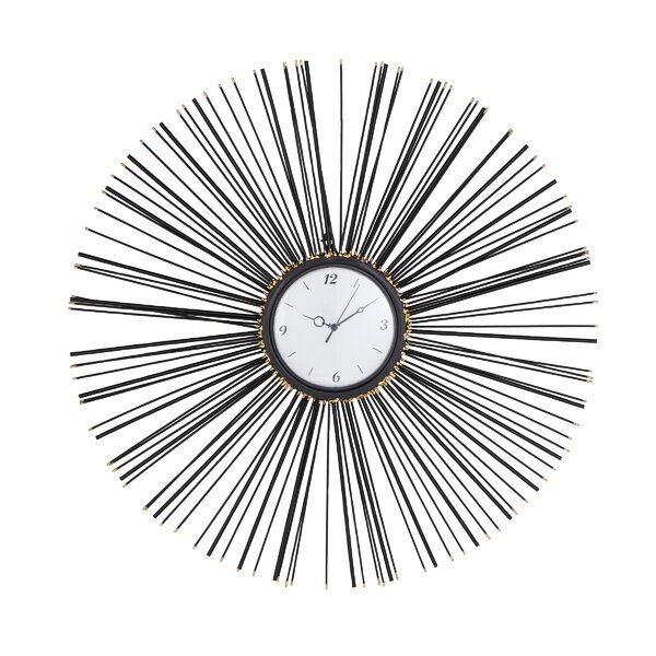 Padro Contemporary Sunburst 30 Wall Clock by George Oliver