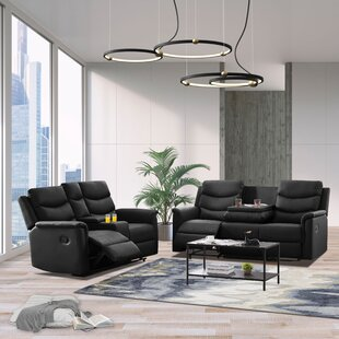 Dorree 2 Piece Faux Leather Reclining Living Room Set by Latitude Run®