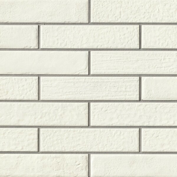 9.75 x 2.38 Porcelain Field Tile in White by Grayson Martin