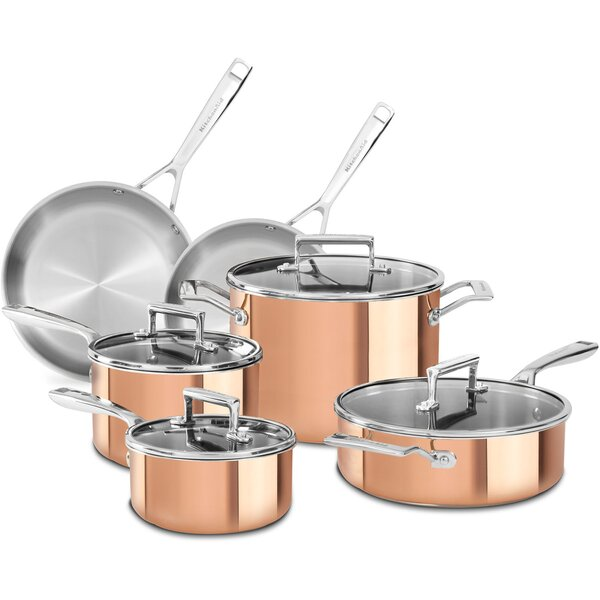 10-Piece Tri-Ply Cookware Set - KC2 by KitchenAid