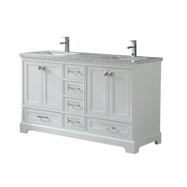 Haxby 60 Wall Mounted Double Bathroom Vanity by Highland Dunes