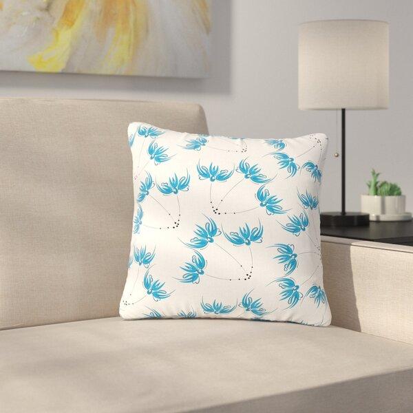 Maria Bazarova Flower Centaur 2 Digital Outdoor Throw Pillow by East Urban Home