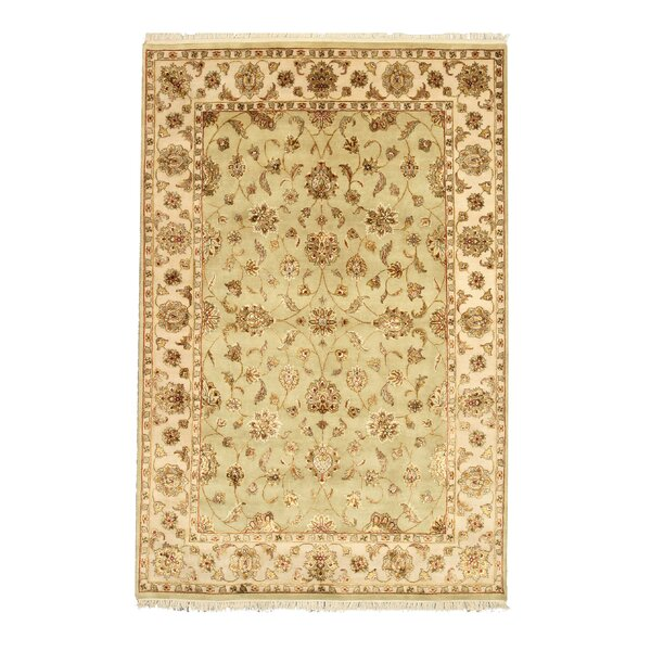 Hand-Knotted Beige Area Rug by Meridian Rugmakers