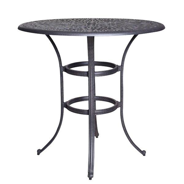 Thurston Aluminum Bar Table by Fleur De Lis Living