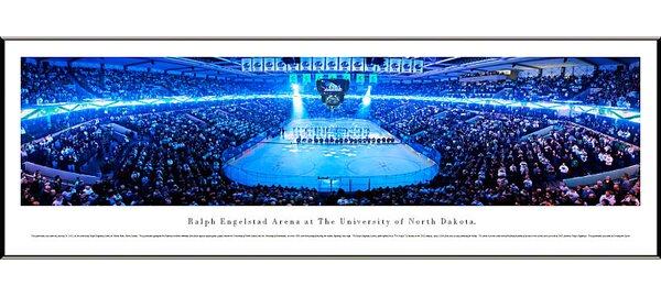 NCAA University of North Dakota - Hockey Anthem by Christopher Gjevre Standard Framed Photographic Print by Blakeway Worldwide Panoramas, Inc