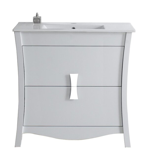 Cataldo Glazed Floor Mount 36 Single Bathroom Vanity Set by Royal Purple Bath Kitchen
