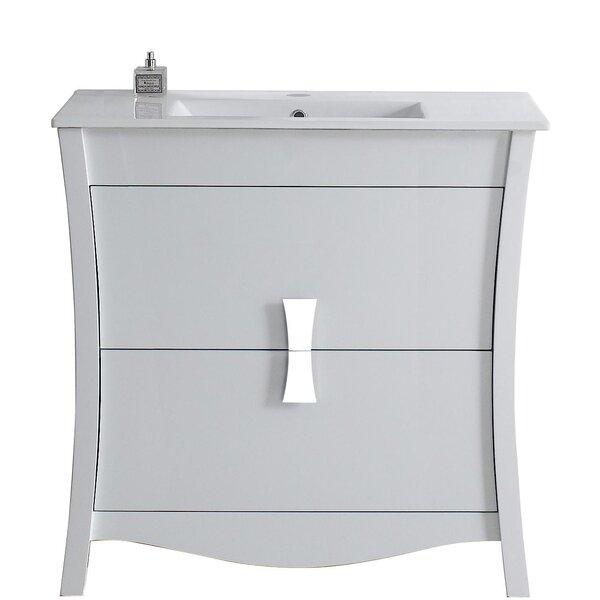 Cataldo Glazed Floor Mount 36 Single Bathroom Vanity Set by Royal Purple Bath Kitchen