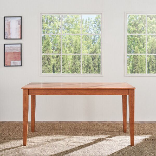Rhiannan Rubberwood Solid Wood Dining Table By Gracie Oaks by Gracie Oaks Bargain
