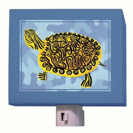 Blue Camo Turtle Night Light by Oopsy Daisy